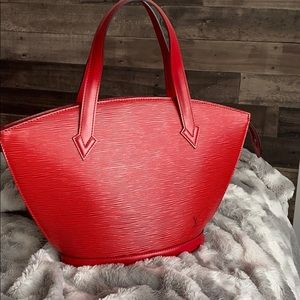 ⭐️price is firm⭐️Louis Vuitton Red epi St Jacque
